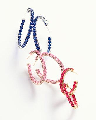 Bayco Medium Pink Sapphire Hoop Earrings, 14.10 Ct