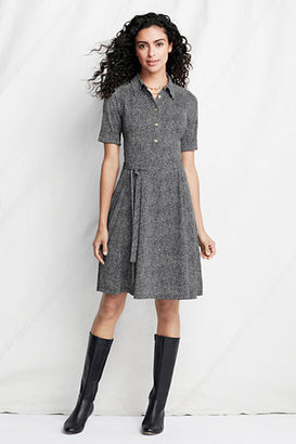 Lands' End Women's Petite Pattern Matte Jersey Dress