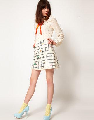 Nishe Woven Check Skirt
