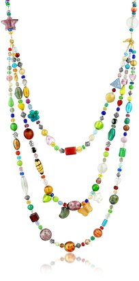 Antica Murrina Brio - Triple-Strand Multicolor Murano Glass Bead Necklace $213 thestylecure.com