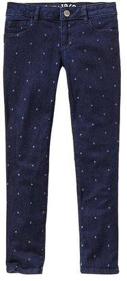 Gap 1969 Embroidered Dot Super Skinny Jeans