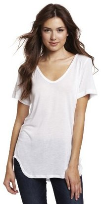 LnA Women's Short Sleeve Curved Tee