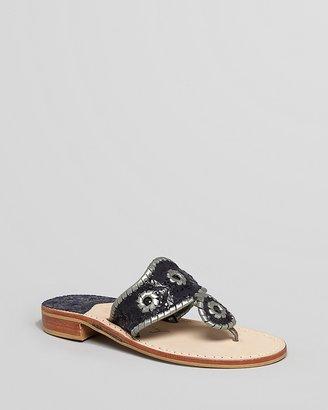 Jack Rogers Thong Sandals - Mini Crest