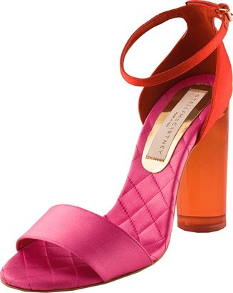 Stella McCartney Lucite-Heel Open Sandal