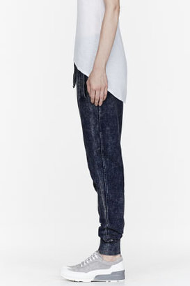 Helmut Lang HELMUT Blue Acid Wash Sweatpants