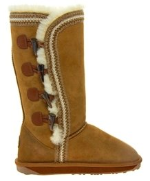 Emu Albina Toggle Sheepskin Boots - Chestnut