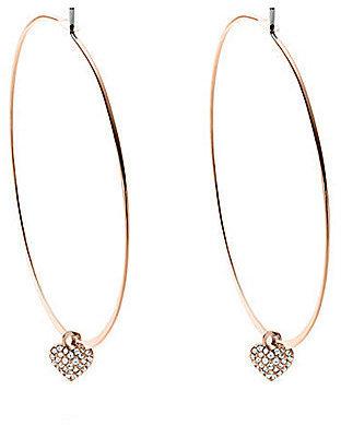 Michael Kors Heart Motif Hoop Earrings