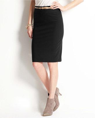 Ann Taylor Tropical Wool Peplum Back Skirt