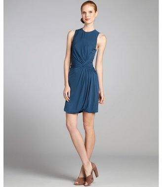 Under.ligne By Doo.ri Ocean Stretch Crepe Sleeveless Ruched Dress