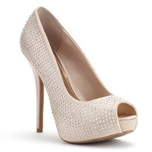 Jennifer Lopez Women's Peep-Toe Platform High Heels