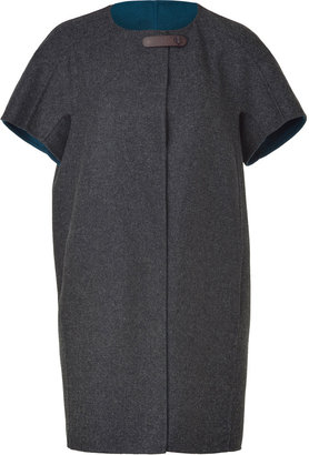 Piazza Sempione Carbon Wool-Blend Cape