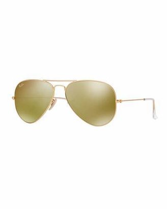 Ray-Ban Aviator Sunglasses with Flash Lenses, Gold/Red Mirror $175 thestylecure.com