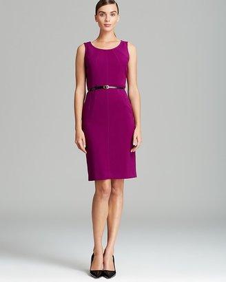 Jones New York Collection Belted Sleeveless Sheath Dress