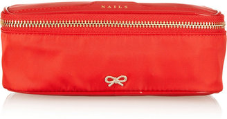 Anya Hindmarch Nails patent leather-trimmed cosmetics case