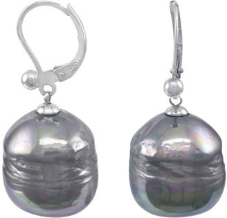 Majorica Baroque Pearl Drop Earrings, Gray