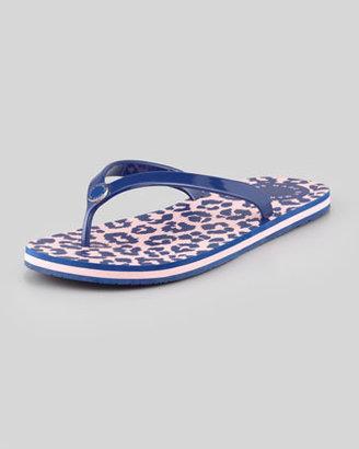 Marc by Marc Jacobs Rita the Cheetah Flip-Flop, Blue/Pink