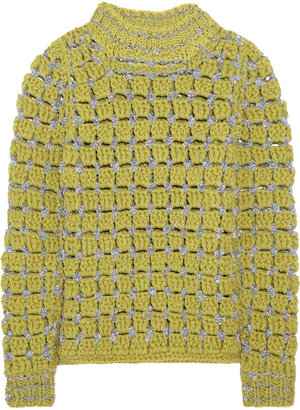 Marc Jacobs Hand-crocheted wool-blend sweater
