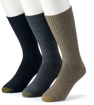 Gold Toe Men's GOLDTOE 3-pk. Cotton Fluffies Crew Socks