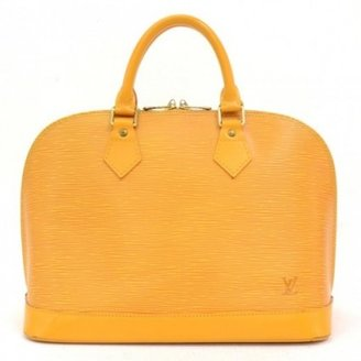 Louis Vuitton very good (VG Vintage Yellow Epi Leather Alma Hand Bag