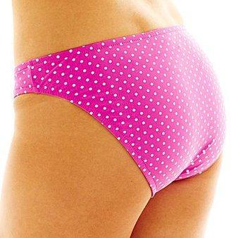 JCPenney Surfside Polka Dot Hipster Swim Bottoms