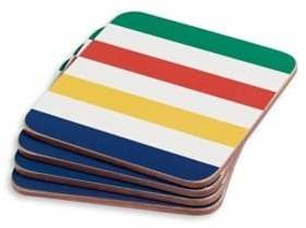 Hudson's Bay Company Multi Stripe Coasters