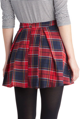 Refined Research Skirt in Red