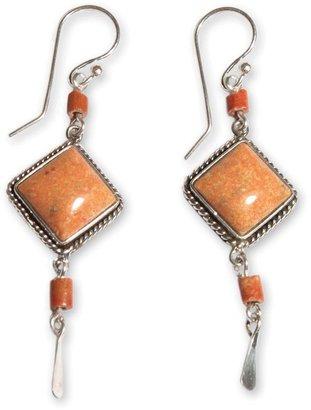 "Novica Artisan Crafted Sterling ""Legacy"" Dangle Earrings"