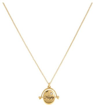 Juicy Couture Say What You Mean Naughty Nice Spinner Necklace (Gold) - Jewelry