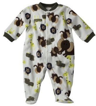 Carter's Just One You® by Infant Boys' Fleece Snap Bodysuit - White/Brown