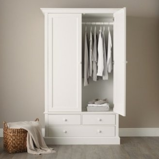 The White Company Classic Large Wardrobe, White, One Size