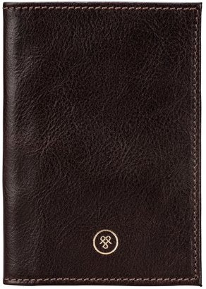 Maxwell Scott Bags Brown Leather Finely Crafted Passport Wallet