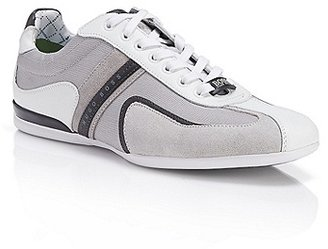 HUGO BOSS Space Up Leather & Suede Sneakers - Light/Pastel Grey