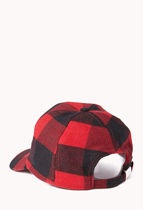 Forever 21 Grunge Plaid Baseball Cap
