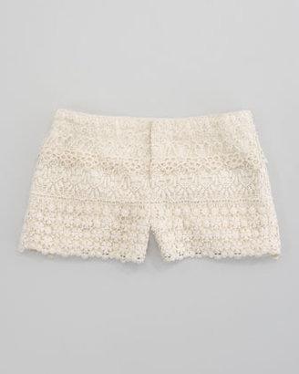Ralph Lauren Tiered Crocheted Short, Chic Cream