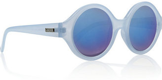 Le Specs The Dandy round-frame acetate mirrored sunglasses