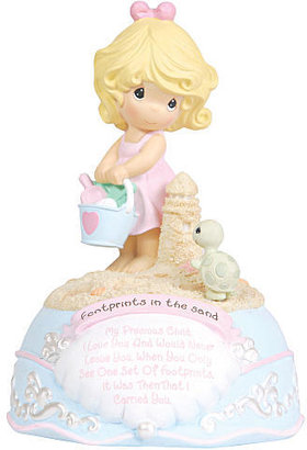 """Precious Moments Footprints in the Sand"""" Musical Figurine"""