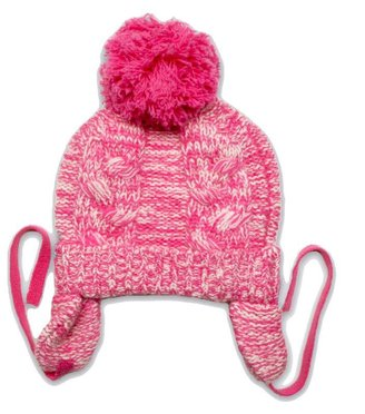Baby CZ Chunky Cable Pom-Pom Hat Rouge/Creme