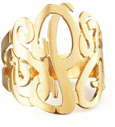Jennifer Zeuner Jewelry Three-Initial Monogram Ring