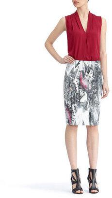 Rachel Roy Printed Pencil Skirt