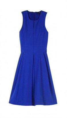 Tibi Ponte Zip Front Dress