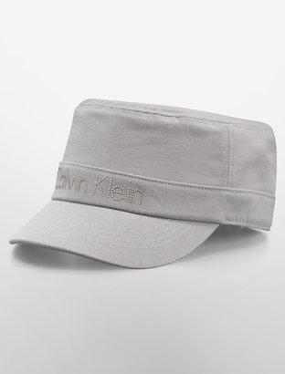 Calvin Klein Logo Studded Military Hat