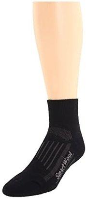 Smartwool Walk Light Mini 3-Pack (Black) Quarter Length Socks Shoes