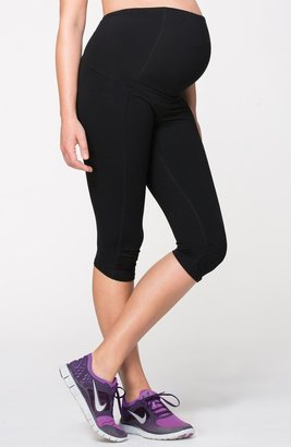 Ingrid & Isabel Knee Length Active Maternity Pants with Crossover Panel