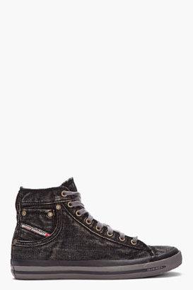 Diesel black Exposure I denim sneakers
