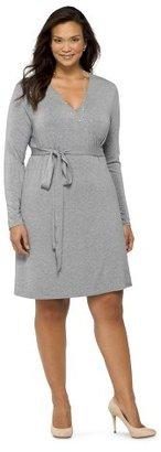 Merona Women's Plus Size Long Sleeve Knit Wrap Dress