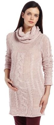 Ripe Maternity Women's Maternity Chunky Cable Knit Sweater