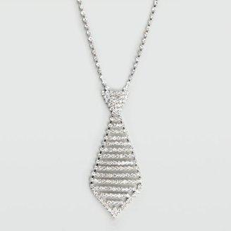 Full Tilt Rhinestone Tie Necklace