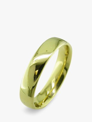 E.W Adams 18ct Yellow Gold 5mm Larger Sized Court Wedding Ring, Yellow Gold