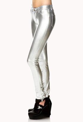 Forever 21 Luxe Metallic Skinny Pants