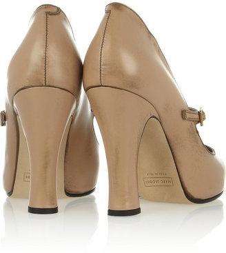Marc Jacobs Distressed leather Mary Jane pumps